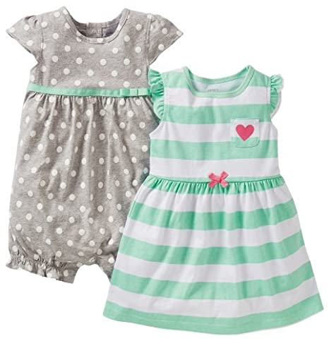 Carters Romper Pink with Flower 9 months pink size