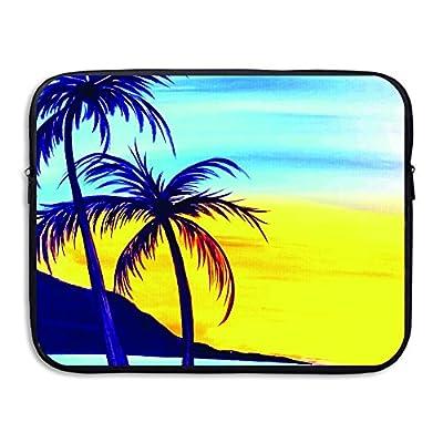 Laptop Sleeve Briefcase Coconut Tree Printing Water-resistant Neoprene Laptop Carrying Bag chic