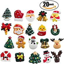 20 Pcs christmas decorations Refrigerator Magnets Office Magnets Christmas Fridge Magnet Home Decoration with Santa Claus, Reindeer, Christmas Trees, Snowman