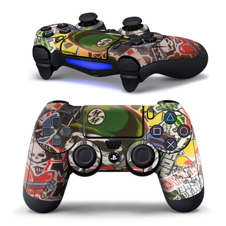 (Retro Skull PS4 Controller Skin for Sony PlayStation 4 DualShock Wireless Controller)