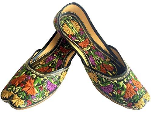 Womens Traditional Shoes Mojari Jutti n Indian Phulkari Style Khussa Step E4xwqASnx