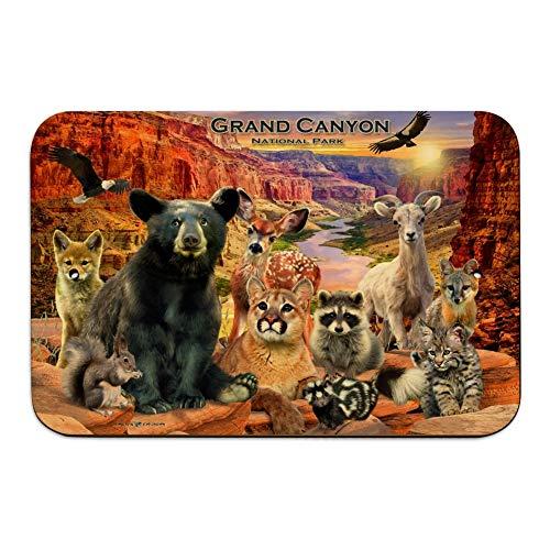 GRAPHICS & MORE Grand Canyon National Park Arizona AZ Animals Cougar Bear Deer Raccoon Home Business Office Sign - Wood - 6