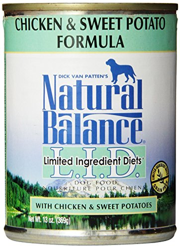 12 Pack, 13-Ounce, Chicken & Sweet Potato Formula Canned Dog Food by Natural Balance