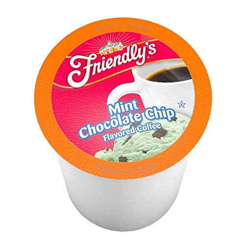 Friendly's Mint Chocolate Chip Flavored Coffee Pods for Keurig K-Cup Brewers, 12 Count