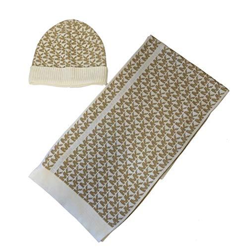 Michael Kors Signature Metalic Knit Scarf Hat Gift Set