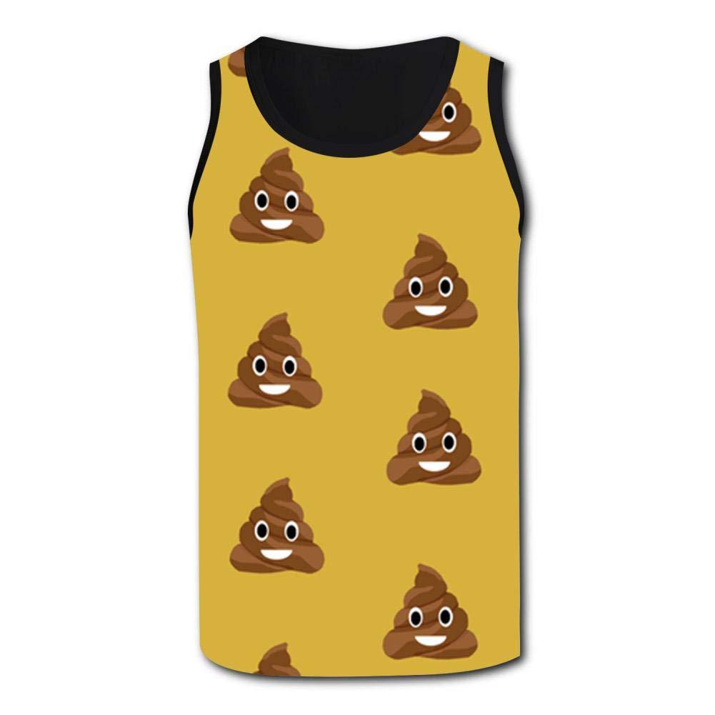 Gjghsj2 Mens Tank Top Cute Poop Vest Shirts Singlet Tops Sleeveless Underwaist Basketball