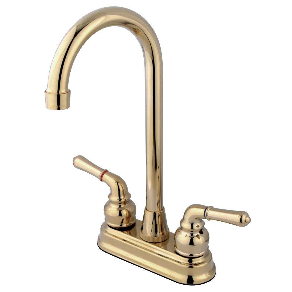 Kingston Brass GKB492 Magellan 4-inch Bar Faucet, Polished Brass