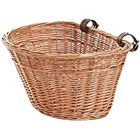 e-wicker24 Cesta de Bicicleta de Mimbre, Cesta, Amarillo