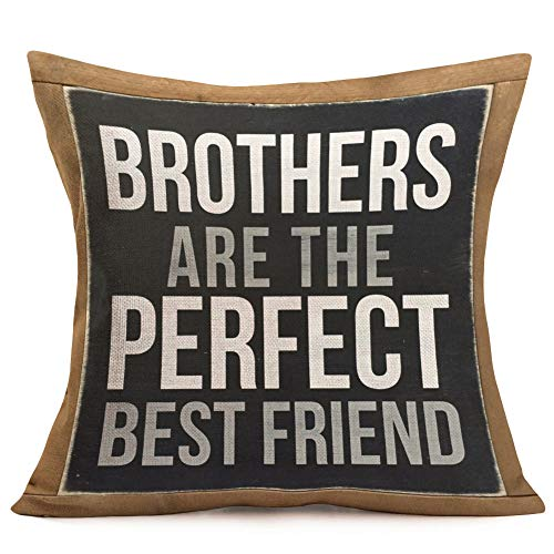 Smilyard Vintage Throw Pillow Covers Brothers are The