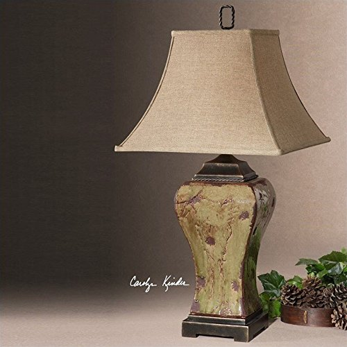 Uttermost 26882 Porano Lamp (Square Uttermost Linen Table Lamp)