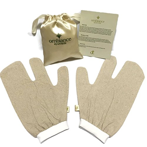 raw-silk-garshana-massage-gloves-100-unbleached-silk-noil-ayurvedic-dry-brush-therapy-comes-with-lux