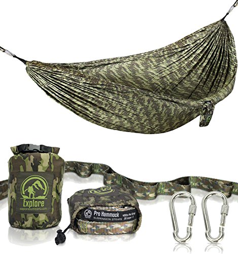 Military Jungle (Explore Outfitters Camouflage XL Camping Double Hammock Jungle Style With Military Camo 12 FT. Tree Straps …)