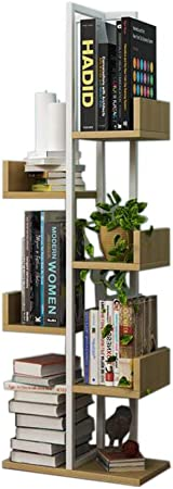 Jcnfa-Estante Estante para Libros Escalera Portátil Multicapa Apariencia En Madera con Muebles De Metal. Ahorra Espacio Soporte De Exhibición Almacenamiento De Artículos Varios: Amazon.es: Hogar