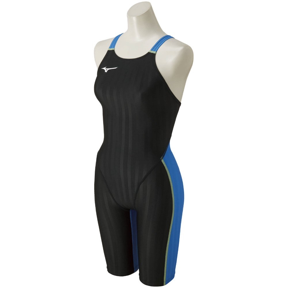 MIZUNO(ミズノ) レース用競泳水着 レディース ストリームアクセラ ハーフスーツ FINA承認 N2MG8226 B0038NDERW XXL|91:ブラック×ライトブルー 91:ブラック×ライトブルー XXL