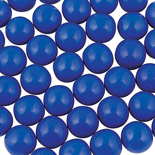 Fun Express - Blue Gum Balls - Edibles - Gum - Bulk Gumballs - 97 Pieces -