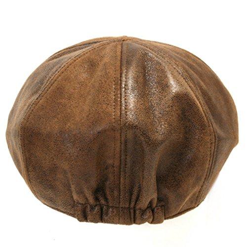 ililily New Men¡¯s Flat Cap Vintage Cabbie Hat Gatsby Ivy Caps Irish Hunting Hats Newsboy with Stretch fit - 001-1, Light Brown