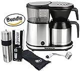 Bonavita BV1500TS 5-Cup Carafe Coffee Brewer & BrewGlobal Rhinoware Hand Coffee Grinder - Stainless Steel (Bundle)