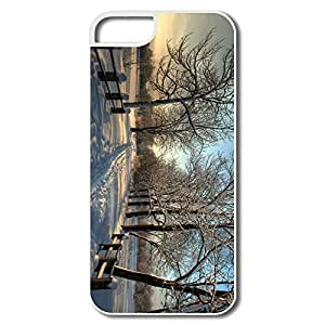Design Funny Protective Snowy Country Road IPhone 5/5s Case For Team