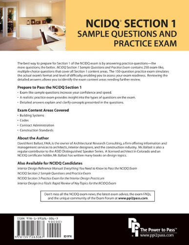NCIDQ® Section 1 Sample Questions and Practice Exam