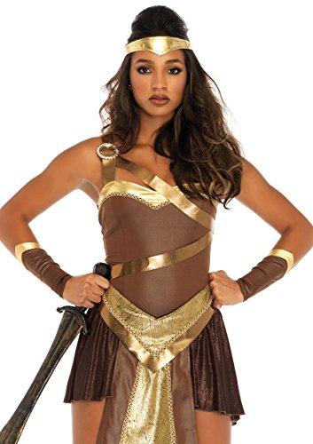Leg Avenue Women's Golden Gladiator Warrior Costume, Brown Small ()