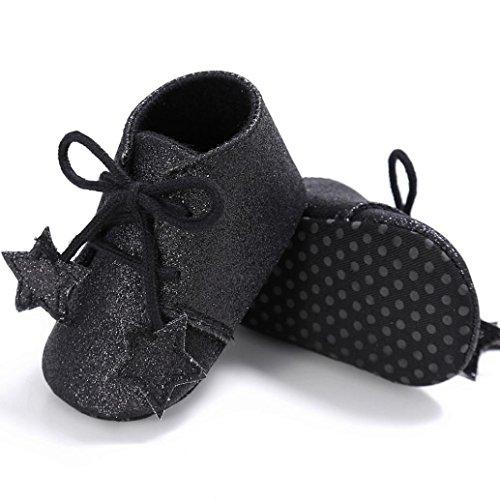 Rutsch Mode Omiky® Neugeborene Anti Sohle Kleinkind Blume Mädchen Baby Krippe Schwarz Sneakers Soft Schuhe 2017 Pr44qYxd