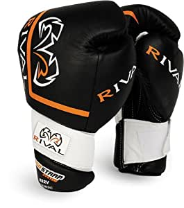 Rival High Performance Hook-and-Loop Sparring Gloves, Black, 12-Ounce
