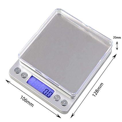 TYUCN Balanza de Cocina 3000g x 0.1g Mini portátil Digital para báscula de Bolsillo 3kg