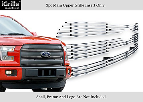 Aps For 2015 2017 Ford F 150 Lariat King Ranch Stainless Steel Billet Grille N19 C21366f