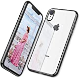 DTTO Case for iPhone XR, [Lightening Series] Clear Stylish Flexible Case with Metal Luster Edge for Apple iPhone XR 6.1 Inch (2018 Released) - Black
