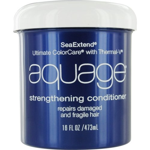 Aquage Seaextend Strengthening - Aquage Seaextend Ultimate Colorcare with Thermal-V Strengthening Conditioner, 16 Ounce