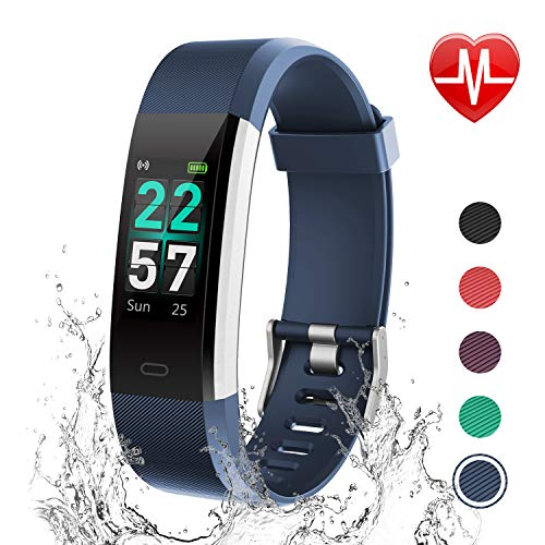 (LETSCOM Fitness Tracker Color Screen, Activity Tracker with Heart Rate Monitor, Sleep Monitor, Step Counter, Calorie Counter, IP68 Waterproof Smart Pedometer Watch for Men Women Kids)