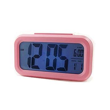 Reloj Despertador Digital, Relojes Despertadores Digitales Alarma Despertador con Calendario Snooze Reloj Alarma Despertador Pilas para Niños Adultos Sensor ...