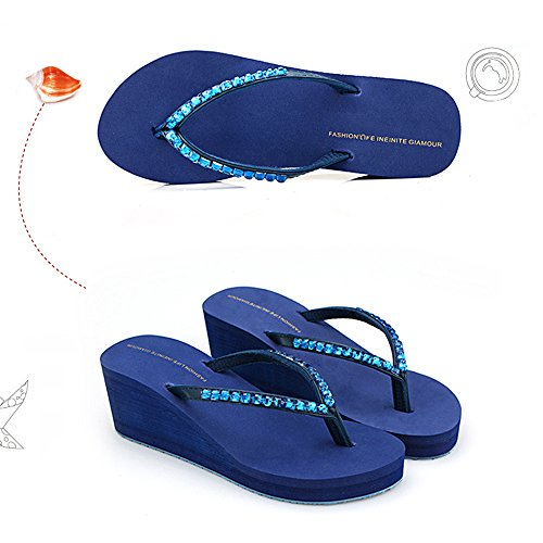 a y a la beauty de Libre de de con Tac ora Cu Sandalias Cu Chanclas de al Playa Se Plataforma Chanclas love Angel Zapatillas Aire de wgXqO00