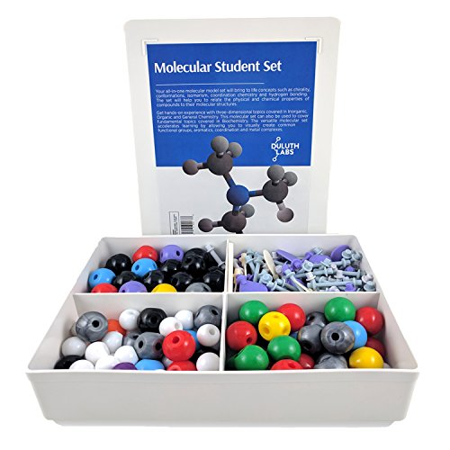 Inorganic and Organic Chemistry Model Student Kit (281 Pieces) - MM-007 with Atom Configurations, Bonds and Orbitals