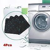 4pcs Non Slip Washing Machine Dryer Pads, Anti-Vibration Washer Mat, Shock Absorbing Washer Pads - Self Adhesive Washing Machine Dryer Rubber Feet Stoppers