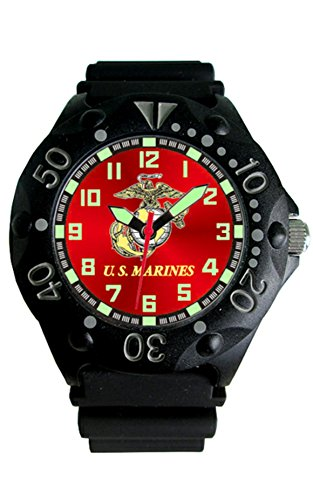200m Gents Watch (U.S. Marine Corps Etched Dial Mens Dive Watch - 200m Water Resistant)