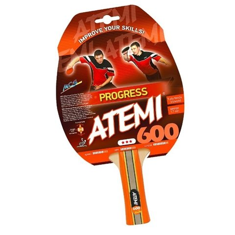 Atemi NTT 600 Pre Assembled Table Tennis Racket with Modern Spin and Control Rubber