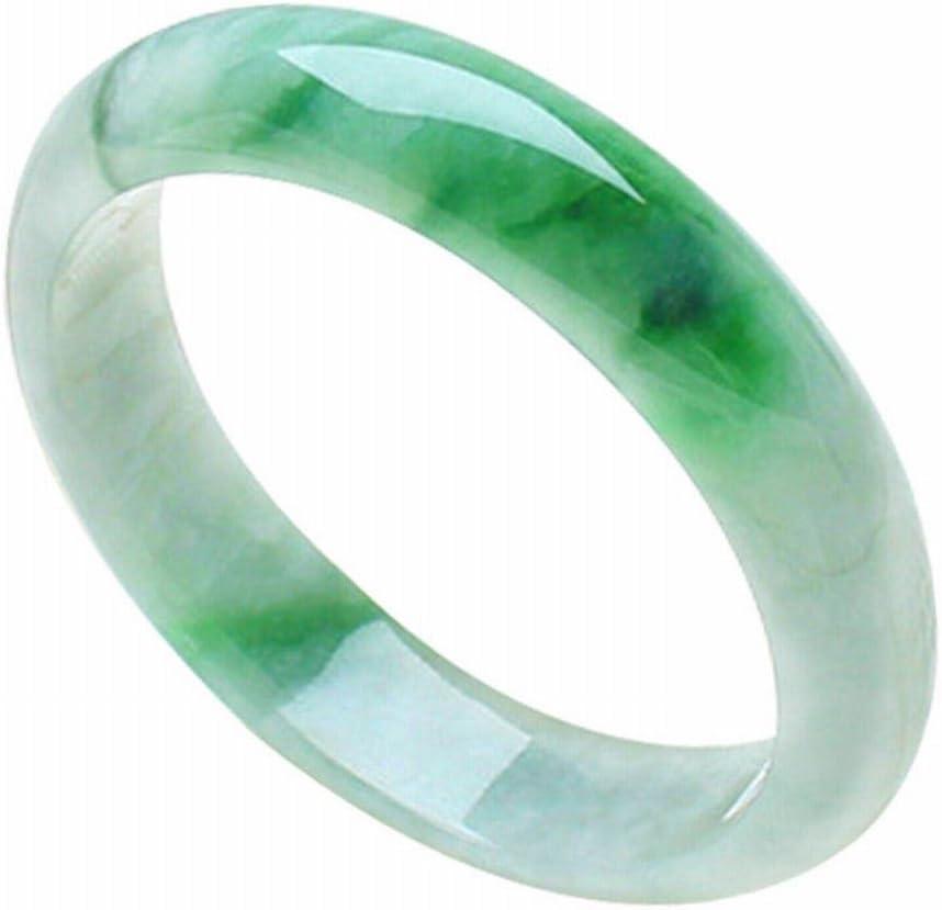 YC Natural Viejo Pit Jade Pulseras Flotantes Agua Verde Esmeralda Pulsera de Jade Señoras Calentador de Joyas,UN,60