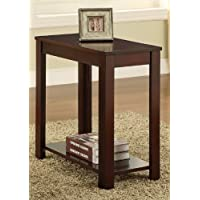 Chair Side Table in Espresso by Poundex