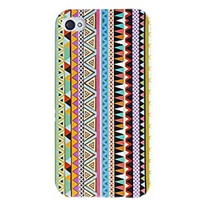 Triangles in Vertical Lines Pattern Hard Case for iPhone 4/4S