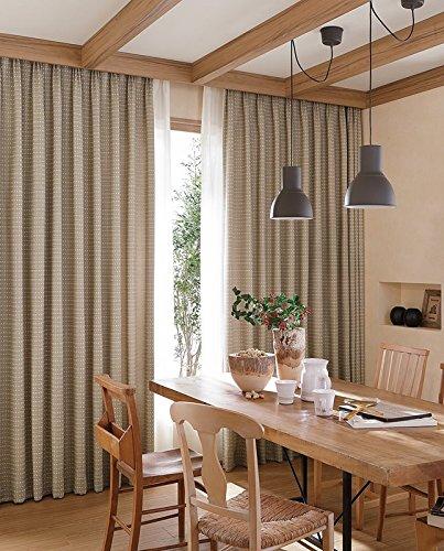 東リ ボリューム感と暖かみのあるカラーが特長 カーテン2.5倍ヒダ KSA60023 幅:250cm ×丈:150cm (2枚組)オーダーカーテン   B077TBPFVS