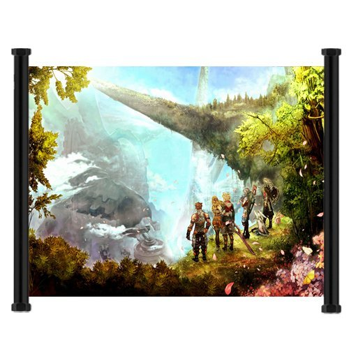 Xenoblade Chronicles Game Fabric Wall Scroll Poster  Inches