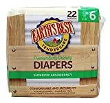 earths best sides - Earth's Best - Premium Earth Friendly Superior Absorbency Diapers 35 + Lbs. - 22 Diaper(s)