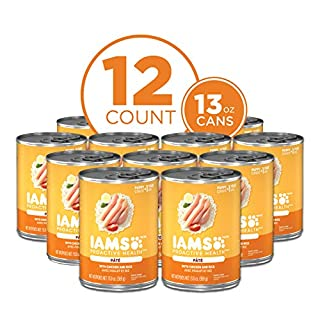 IAMS PROACTIVE HEALTH PUPPY Soft Wet Dog Food Paté With Chicken and Rice, (12) 13.0 oz. Cans