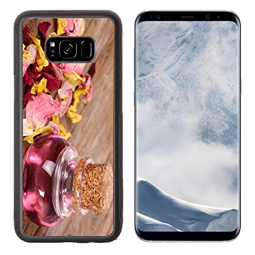 Luxlady Samsung Galaxy S8 Plus S8+ Aluminum Backplate Bumper Snap Case IMAGE ID: 34335372 Glass flask with massage oil (Bottle Flacon)
