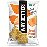 Way Better Snacks Tortilla Chips, Simply Sweet Potato, 1 Ounce (Pack of 24)
