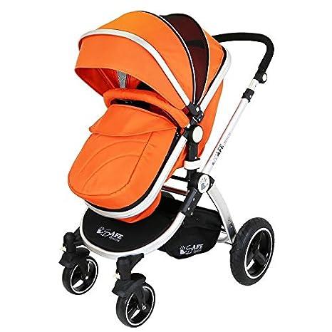 iSafe sistema para cochecito de bebé 2 en 1, color naranja: Amazon.es: Bebé