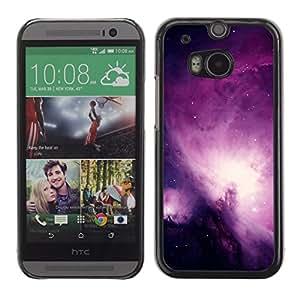 TopCaseStore / la caja del caucho duro de la cubierta de protección de la piel - Universe Purple Galaxy Stars Night Sky - HTC One M8