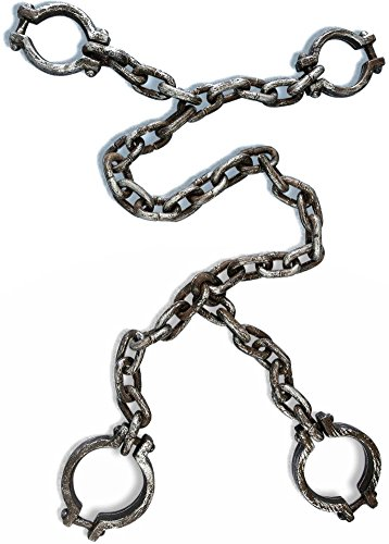 Jumbo Hand and Leg Shackle (Prisoner Halloween Costume Accessories)