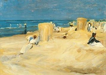 """Kunstkarte Max Liebermann /""""Am Strand von Noordwijk/"""""""